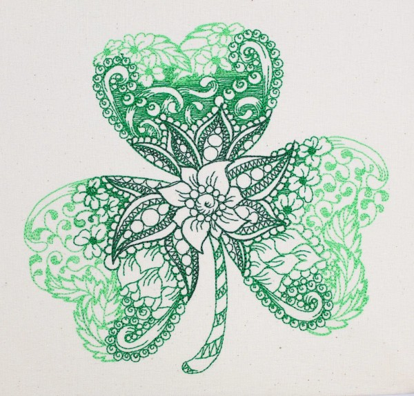 Embroidery Design Shamrock Zendoodle