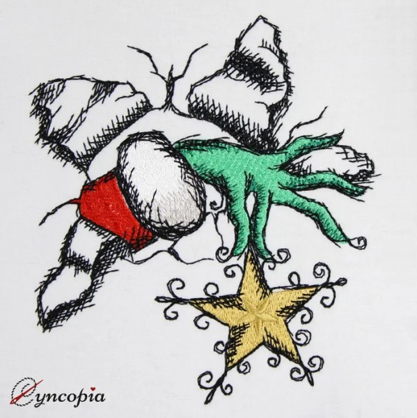 Embroidery Design Crazy Christmas
