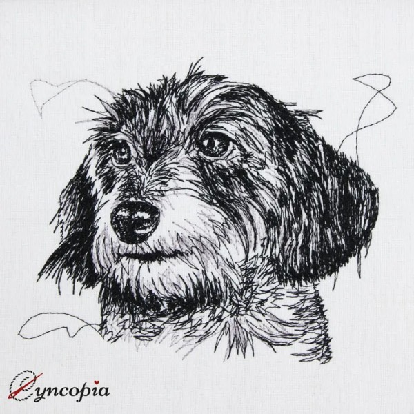 Embroidery Design Dachshund scribble