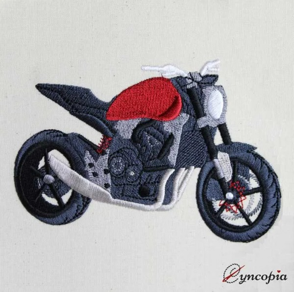 Embroidery Design Motorbike