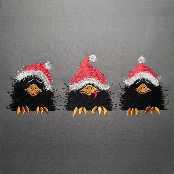 Embroidery Design X-Mas Raven
