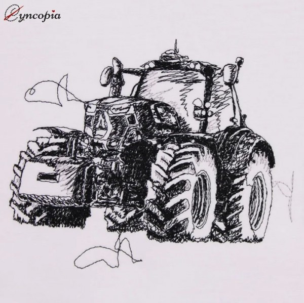 Embroidery Design Tractor scribble