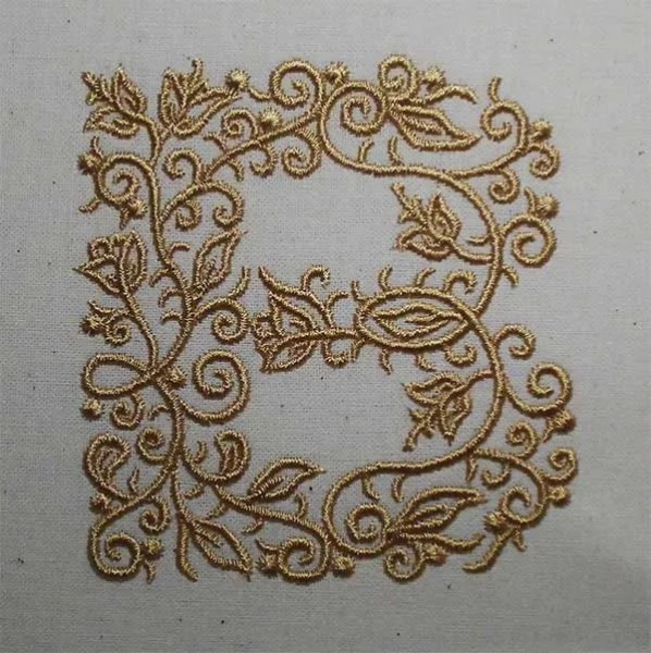 Embroidery Design B Fine Ornament