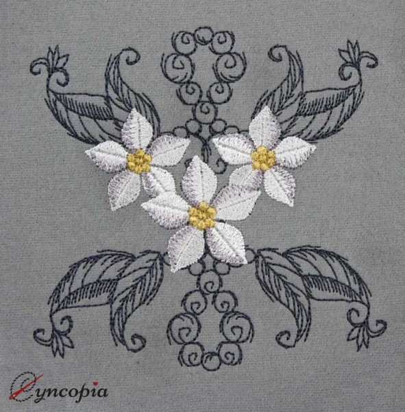 Embroidery Design Flower ornament 1