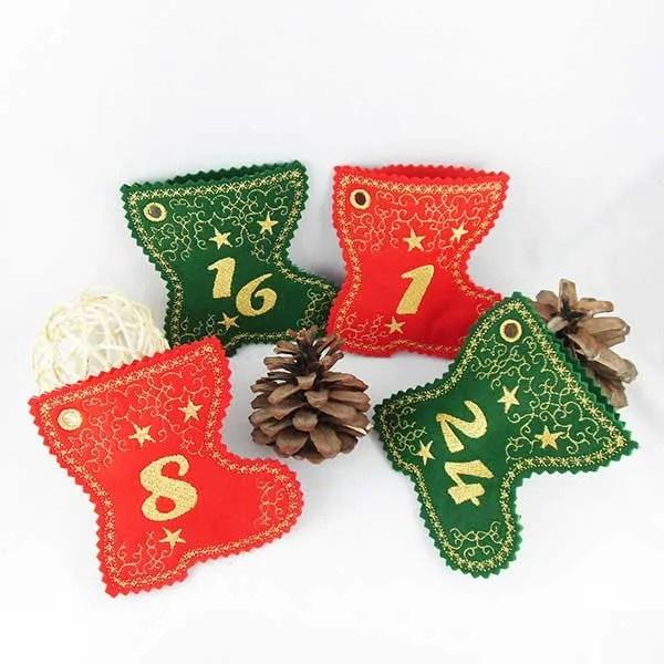 Embroidery Design Christmas Boots ITH