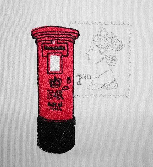 Embroidery Design British Postbox