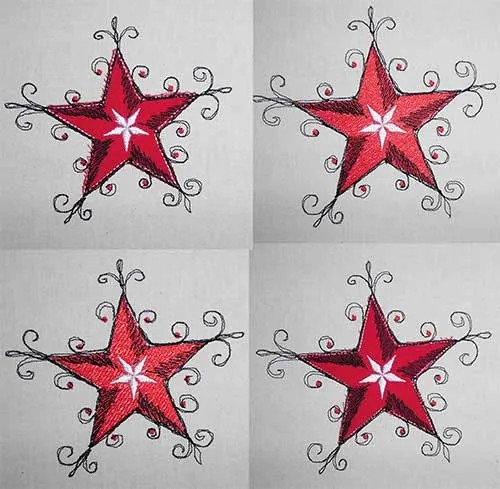 Embroidery Design Stars n Stars