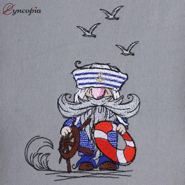 Embroidery Design Sailor Gnome