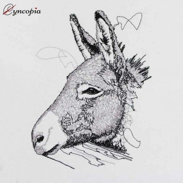 Embroidery Design Donkey scribble
