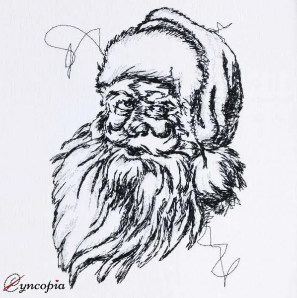 Stickdatei Weihnachtsmann scribble