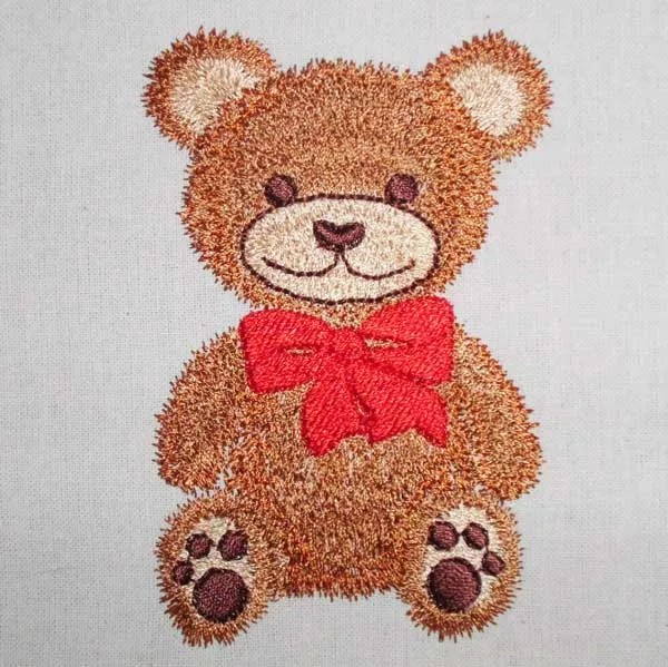 Embroidery Design Teddy with Bow