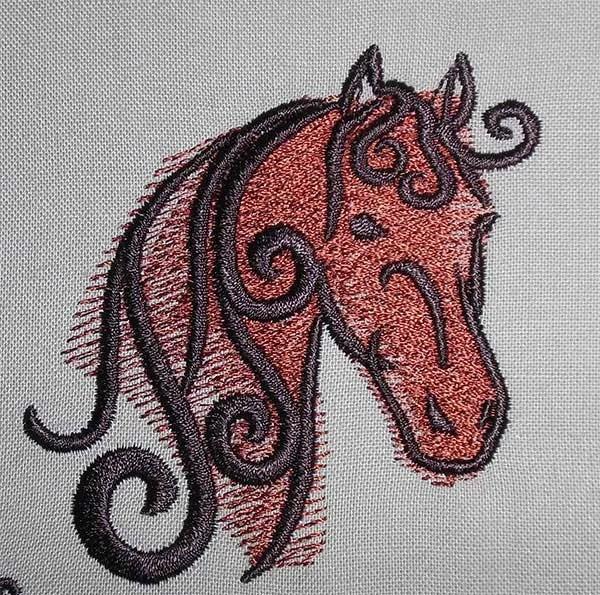 Fichier Broderie Tête de cheval mini