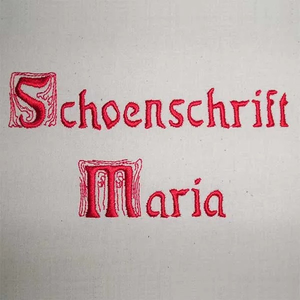 Embroidery Design Letter Set Maria