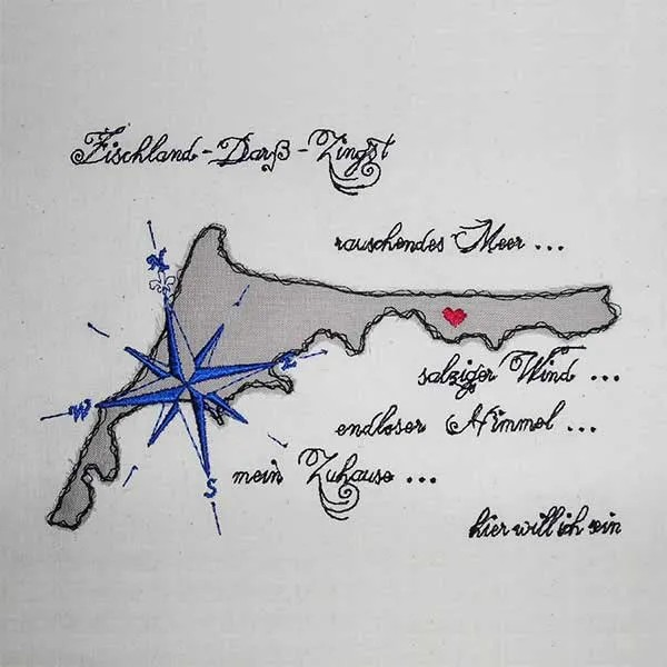 Embroidery Design Fischland Zingst Doodle