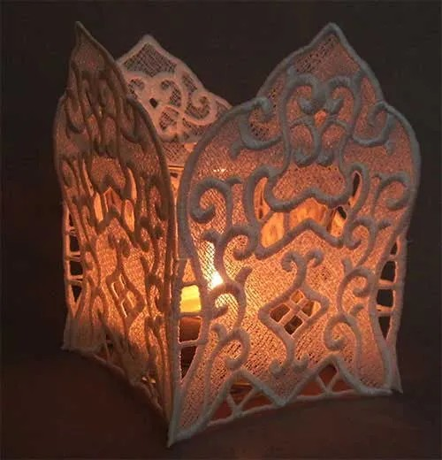 Embroidery Design Lantern Baroque Lace