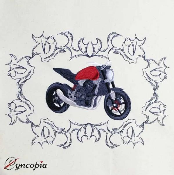 Stickdatei Motorrad Ornament