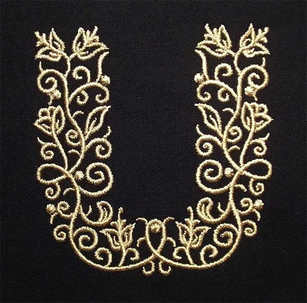 Embroidery Design U Fine Ornament