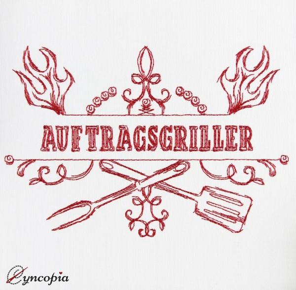 Embroidery Design Saying Auftragsgriller