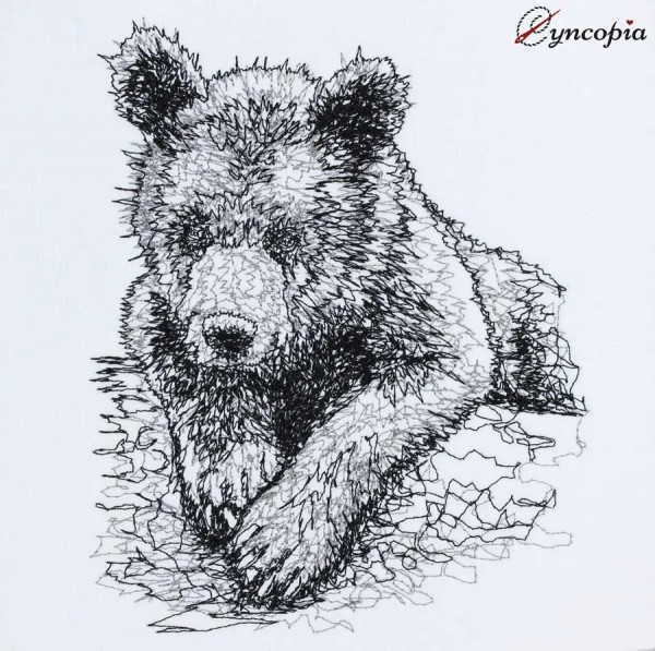Embroidery Design Young Bear scribble