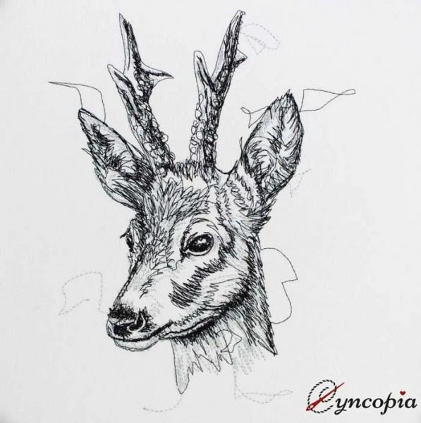 Embroidery Design Roebuck scribble
