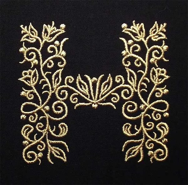 Embroidery Design H Fine Ornament
