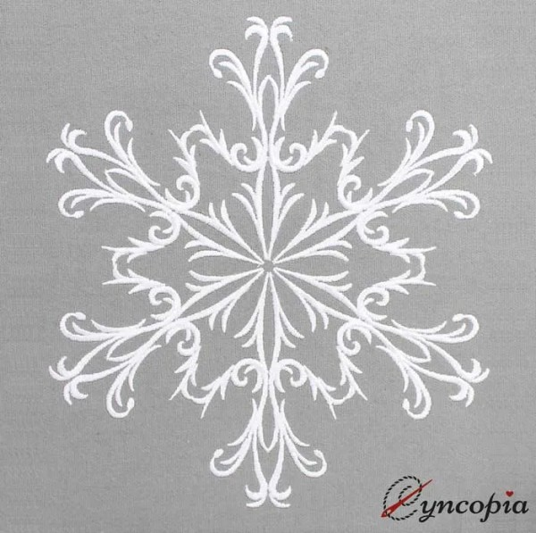 Fichier Broderie Ornement Baroque Flocon de Neige