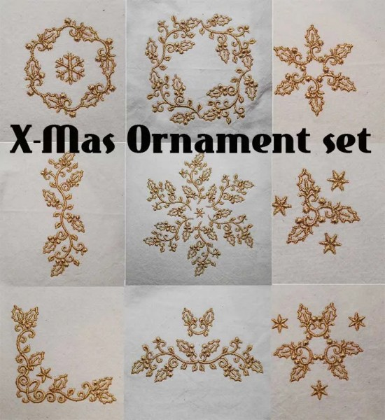 X-Mas Ornament Set