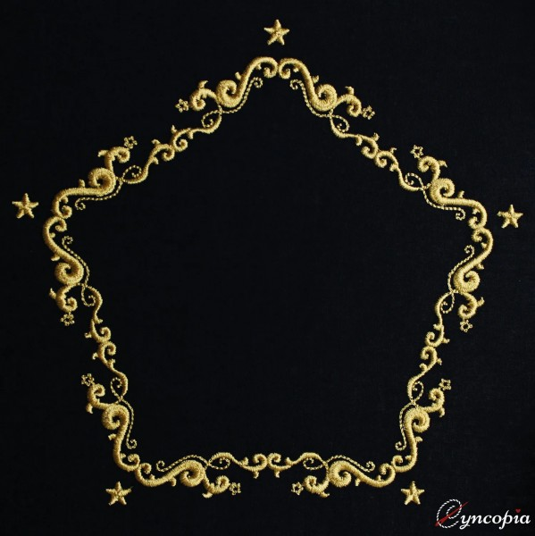 Embroidery Design Christmas Ornament Baroque 7