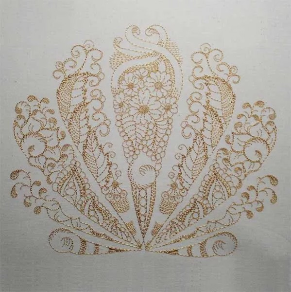 Embroidery Design Seashell Zendoodle