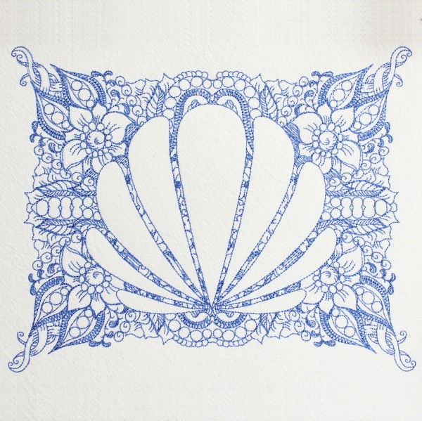 Embroidery Design Shell Invers Zendoodle