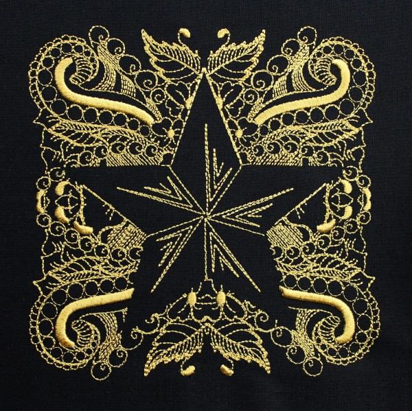 Embroidery Design Star Invers Zendoodle