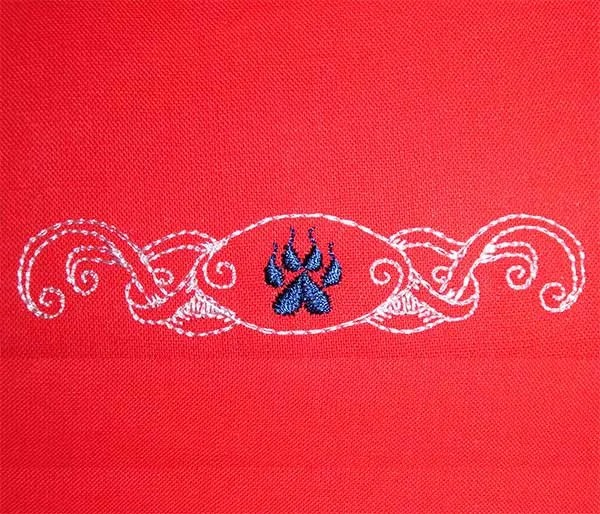 Embroidery Design Paw Ribbon Braid Set