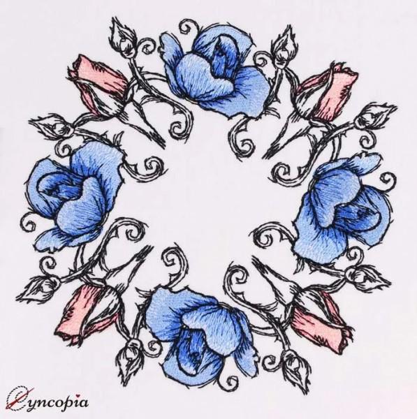Embroidery Design Rose Romantic No. 4