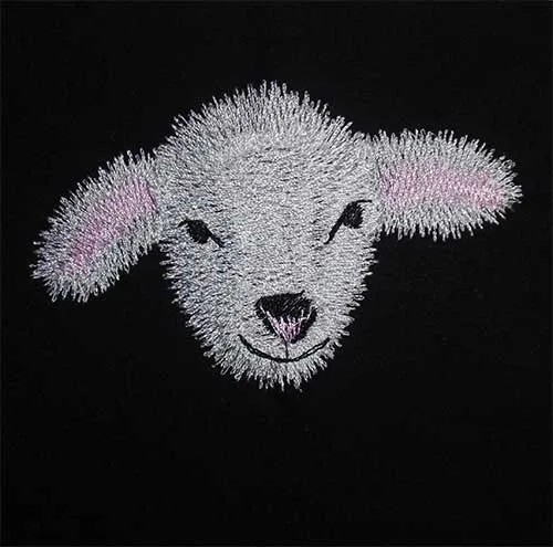 Embroidery Design Lamb Paul