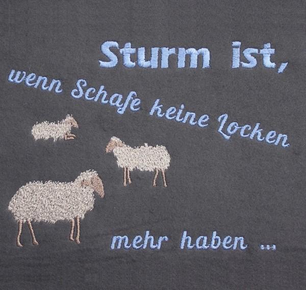 Stickdatei Schafe im Sturm
