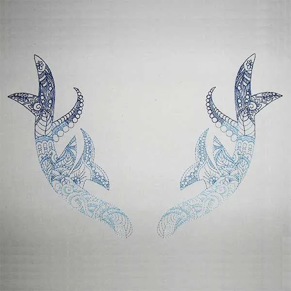 Embroidery Design Antler Zendoodle