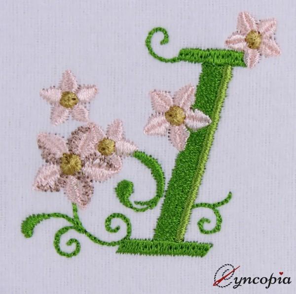 Motif de Broderie l'Alphabet des Marguerites I