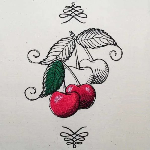 Embroidery Design Gorgeous Cherry