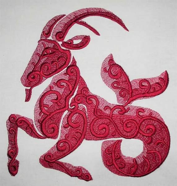 Embroidery Design Capricorn