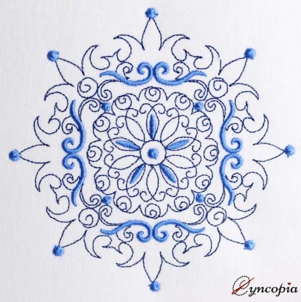 Embroidery Design Mandala Luana