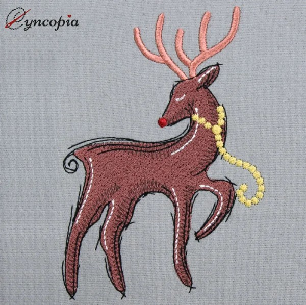 Embroidery Design Reindeer Rudolf