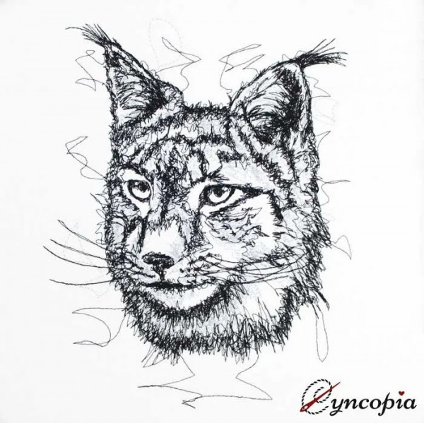 Embroidery Design Lynx scribble