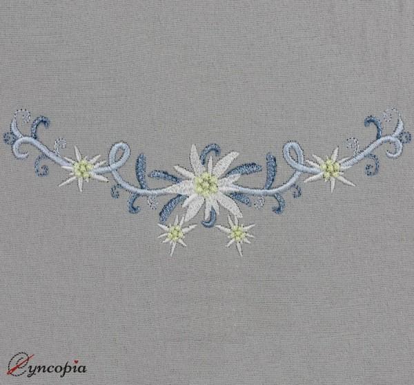 Embroidery Design Edelweiss Round Braid