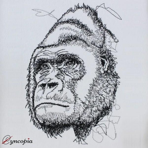 Embroidery Design Gorilla Scribble