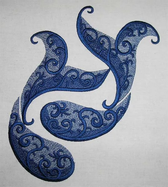 Embroidery Design Pisces