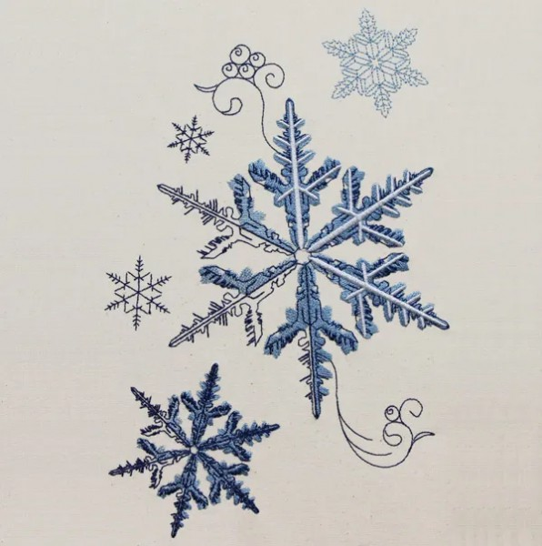 Embroidery Design Snowflake Romantic
