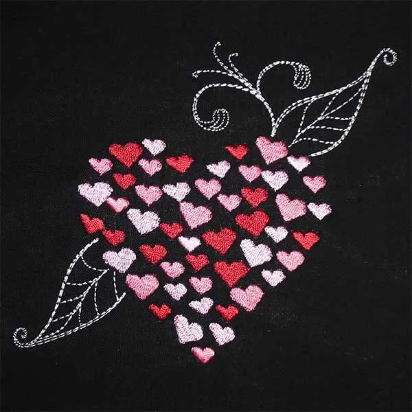 Embroidery Design Heart in Heart