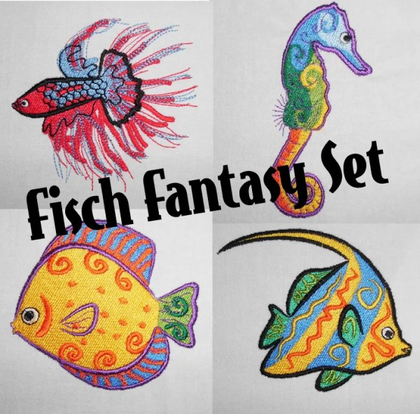 Embroidery Design Fish Fantasy Set