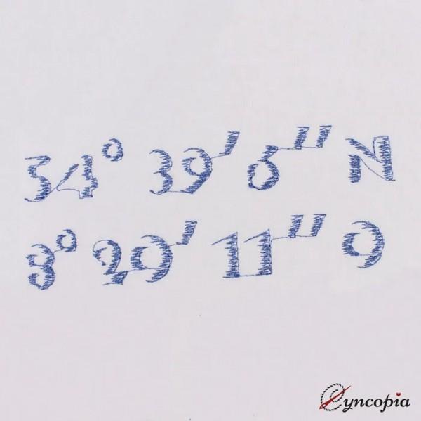 Embroidery Design Coordinates of Amrum Set
