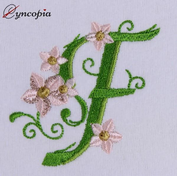 Embroidery Design Marguerites Alphabeth F